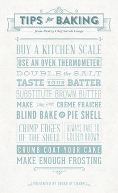 Tips for Baking from a Pastry Chef