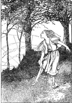 """""""Incessantly she had to dance,""""    Honor Appleton (1879-1951)    c.1932    Illustration for Hans Christian Andersen's story, """"The Red Shoes"""" in Hans Andersen's Fairy Tales. London: Nelson, 1932. Facing p. 330."""