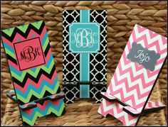 Cell Phone Stand Monogrammed Gift Personalized Mobile Co-Worker Boss Gift Desk Accessories Charger Stand Back to School by ChicMonogram on Etsy