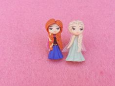 Anna elsa earrings and frozen fimo polymer clay by Artmary2, €14.00