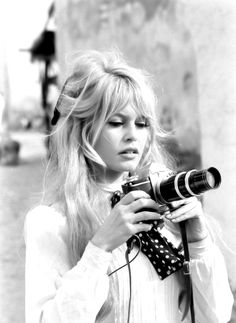 Brigitte Bardot taking photos