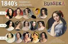 1840's headdresses and hairstyles #hairstyles1840-1900