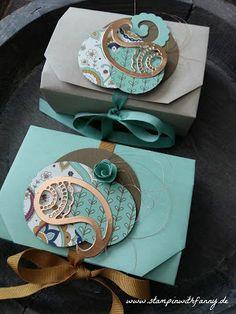 stampin with fanny: Origamibox mit Minikärtchen + Umschläge