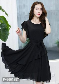 Best Quality And Black Color Gives You A Classy Look #dress #Black High Low Gown, Designer Party Wear Dresses, Western Dresses, How To Look Classy, Gowns, Sexy, How To Wear, Collection, Beautiful