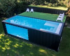 Sea Container Homes, Building A Container Home, Container House Design, Small House Design, Backyard Pool Designs, Small Backyard Pools, Swimming Pools Backyard, Swimming Pool Designs, Shipping Container Pool Cost
