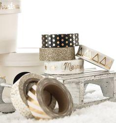 Inspiration Gold / Black / White - Artikel über www.kukuwaja.de #inspiration #farbinspiration #stationery #officesupplies #xmas #weihnachten #postkarten #aufkleber #verpackung #geschenkverpackung #packaging #maskingtape #goldliebe #goldfoil