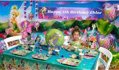 Ideas from Party City for a tinker bell birthday.