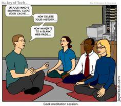 Nerd Meditation... Made me laugh