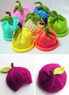 Caps for Babies - Free Knitting Pattern Knitting , lace processing is the single most beautiful hobbies that women can't give up. Interesting knitting ideas are. Baby Knitting Patterns, Knitting Blogs, Baby Hats Knitting, Crochet Baby Hats, Knitting For Kids, Crochet For Kids, Knitting Designs, Free Knitting, Knitting Projects