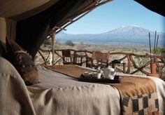 The view from AWF's Satao Elerai Camp—a luxury #safari #lodge   African Wildlife Foundation #travel