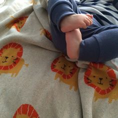 Lion Baby Blanket with baby
