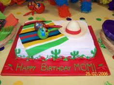 Fiesta Birthday Cake