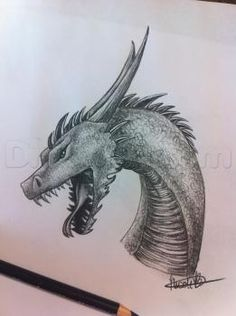 How to Draw a Dragon, Step by Step, Dragons, Draw a Dragon, Fantasy, FREE Online Drawing Tutorial, Added by TheLastStarlighter, July 15, 2013, 7:08:51 pm