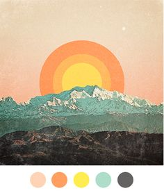 pictures that picture me. / palette on We Heart It Photocollage, Mellow Yellow, Orange Yellow, Blue Green, Navy Blue, Color Stories, Color Pallets, Color Theory, Colour Schemes