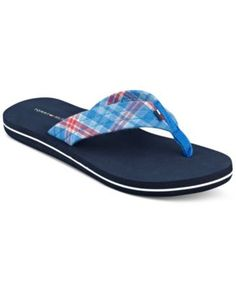 Tommy Hilfiger Women's Printed Flip Flop Sandals - Sandals - Shoes - Macy's