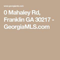 0 Mahaley Rd Franklin GA 30217