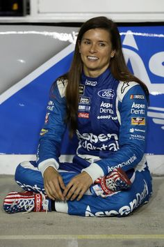 Danica Patrick Photos Photos - Danica Patrick, driver of the Aspen Dental Ford, sits on the grid after the Monster Energy NASCAR Cup Series Can-Am Duel 1 at Daytona International Speedway on February 2017 in Daytona Beach, Florida. Danica Patrick, Sue Patrick, Patrick Stewart, Female Race Car Driver, Car And Driver, Can Am, Le Mans, Nascar Costume, Folds Of Honor