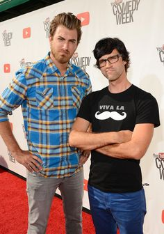 Funniest people on youtube! Watch Good Mythical Morning With Rhett and Link! Rhett (left) Link (right)