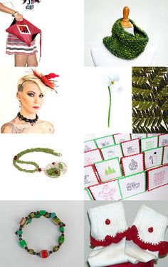 Complimentary in Red and Green by Julia on Etsy