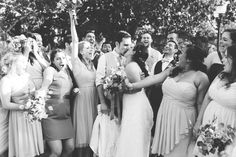 such a fun wedding party shot at Camarillo Ranch!  www.jessicahickerson.com