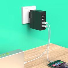 [$10.55] ORICO DCA-4U-V1 4 Ports  5V / 2.4A Desktop USB Charger for Smartphones…