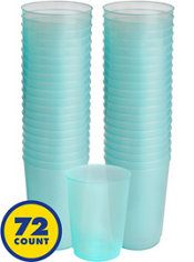 Big Party Pack Robin's Egg Blue Plastic Cups 72ct