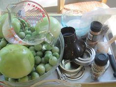 Tomolives – Pickling Green Tomatoes — Mrs Wheelbarrow's Kitchen