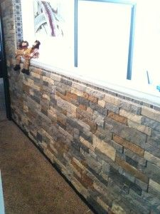 Diy airstone faux stone wall more faux stone