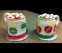 Christmas Mugs Mini Cakes