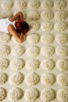 shaggy dot rug, I am thinking this would feel good under bare feet
