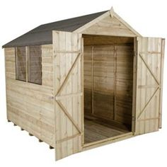 forest overlap apex 6 x double door shed this larger overlap garden shed features a traditional apex