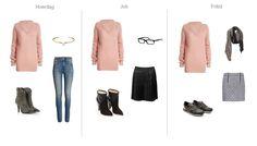 Sådan bruger du den feminine sweater på 3 forskellige måder.  Den lyserøde sweater er meget feminin, men kan sagtens være cool. Hvis du vælger en helt enkel model, kan den få et meget forskelligt udtryk, alt efter hvad den kombineres med. De slidte jeans skaber en rå kontrast til den blide strik og det fine armbånd. De rå støvler, med høje hæle, giver stilen en feminin, men rå vinkel. Sættes den lyserøde strik sammen med en pyntet nederdel, bliver udtrykket piget, men udfordres af de ...