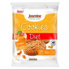 Os Cookies Integrais Diet Damasco da Jasmine são elaborados com ingredientes integrais e naturais! São fonte de fibras, sem leite e derivados, e isento de conservantes! Compre online e receba na sua casa!