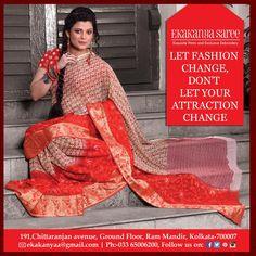 Grace & Style is perfect blend for saree...#EthnicWear #Saree #DesignerLook #Elegance #EkakanyaSarees — with Anjan Kar, Rupsha Mukhopadhyay, Kanai Mukherjee and Sumana Das.