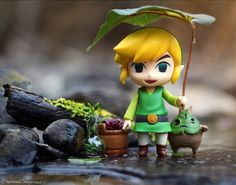 Link in the wild! Sheltering from the rain.