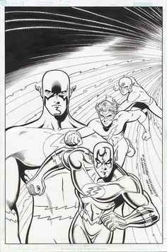 Flash Commission from Mike Wieringo sketch