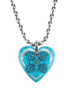 GEM KINGDOM Beaded Heart Necklace