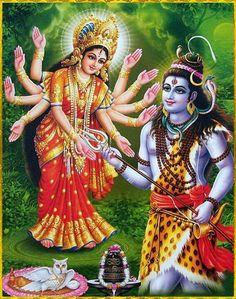 Maa Durga Lord Shiva
