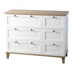 £120.95 Featuring a white finish, this 3-drawer chest is ideal for storing seasonal clothing in your master suite or games in the kids' playroom.