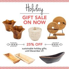 Holiday Gift Sale on now!  25% off on holiday gifts including wooden bowls, serving platters, coat racks, and more! You can now shop online at www.zenporium.com. Shipping available across North America.  #Sale #holidaygiftsale #shoponline #handmade #holidaygiftideas #sustainablegifts #giftideas #rusticdecor #interiordesign December Holidays, Sustainable Gifts, Coat Racks, Wooden Bowls, Sale On, Serving Platters, Serveware, Four Square, Rustic Decor