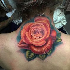 Rose tattoo done by resident artist @mikedurst_tattoos To book an appointment with Mike call the shop at 323-963-0402 or email him at mikedursttattoos@gmail.com. #rose #rosetattoo #colortattoo #radiantinklab #customtattoo #amazingtattoo #girlswithtattoos #inkedmag #tattooartistmagazine #la #melrose #hollywood #laartist #latattooer #travelingartist #fun #flow #cool #texture #picoftheday #tattoooftheday #necktattoo #style #inkedgirls
