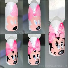 Photo latest nail art designs galleryfrench tip nail designs for short nails nail art stickers online nail art stickers walmart best nail polish strips 2019 Cartoon Nail Designs, Animal Nail Designs, Nail Art Designs, Ongles Mickey Mouse, Mickey Mouse Nails, Diy Nails, Cute Nails, Pretty Nails, Nail Art Disney