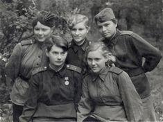 Night Witches. Masha, Valya, Nadya, Olya, Tanya. The 487th Fighter Aviation Regiment. 1943.
