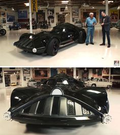 This is a Star Wars themed Darth Vader car created by Hot Wheels!