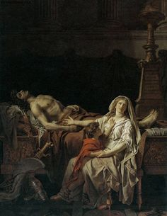 The Suffering of Andromache (La douleur d Andromaque) 1783 Jacques-Louis David Musee du Louvre Paris Canvas Art - Jacques-Louis Jean Racine, David Painting, Paris Canvas, Greek Tragedy, Georges Braque, Art Reproductions, Canvas Art Prints, Art History, Poster Prints