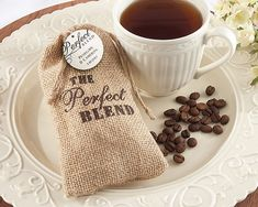The Perfect Blend Burlap DIY Wedding Favor Bags by MyLoveWeddings, $147.52