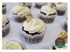 Cupcakes de Inverno: Hot Chocolate (Chocolate com Chantilly) #GingerVanilla