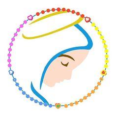 'Virgin Mary' by Praying The Rosary Catholic, Church Logo, Mama Mary, Lady Of Fatima, Hand Embroidery Videos, Preschool Christmas, Stencil Patterns, Beautiful Gif, Tumblr Wallpaper