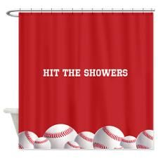 This Website Has Amazing Baseball Shower Curtains A Bit Pricey But Very Unique You Can Even Order Towels With The Pictures On Them