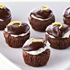 Ghirardelli -lemon kissed brownie bites. I made them with out the lemon frosting. they made great mini muffin brownies with the gnache